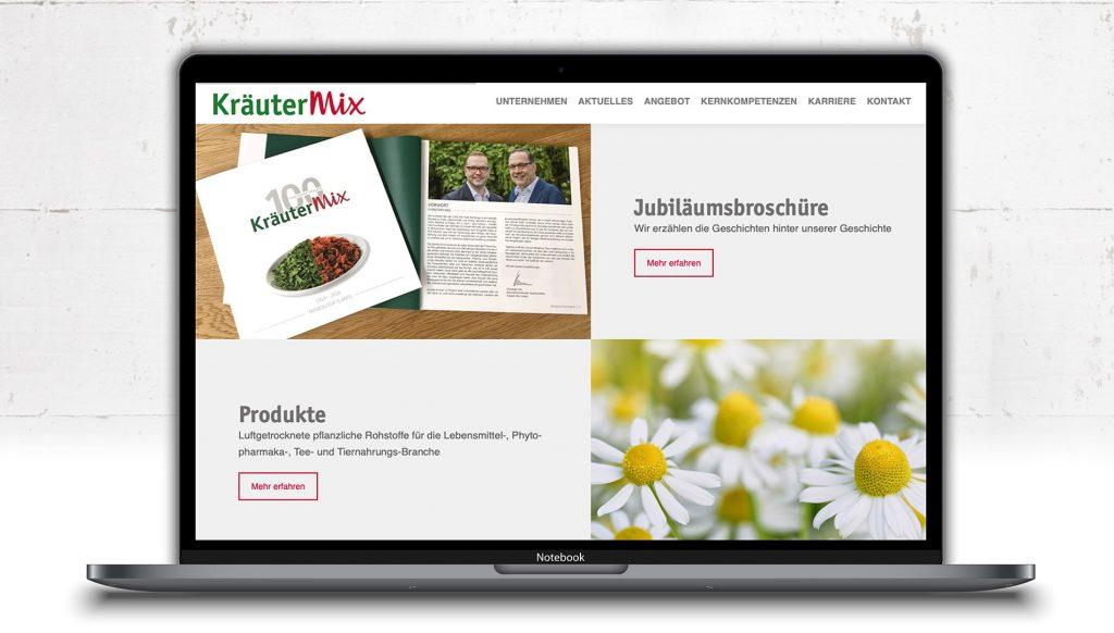 responsive Website für Kräuter Mix