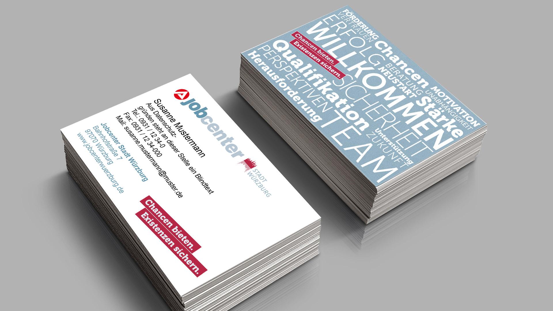 Jobcenter Design Visitenkarte