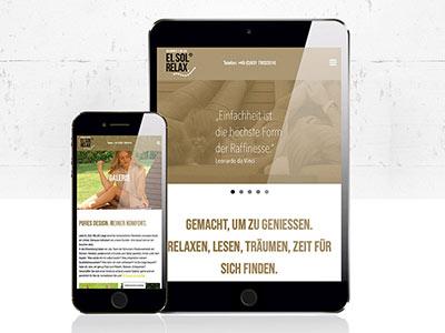 EL SOL RELAX Designliegen Website