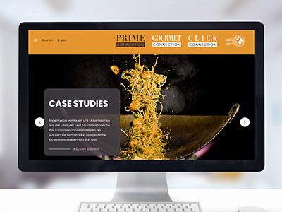 Corporate Websites Gourmet, Prime und Click Connection